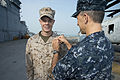 Marine Officer bridges the gap between green and blue 121102-N-WX580-012.jpg