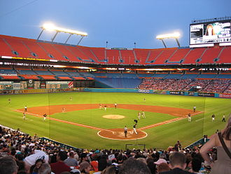 Hard Rock Stadium - A Florida Marlins baseball game, 2008