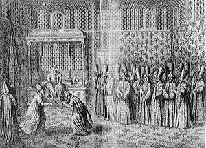Jean-Louis d'Usson - French ambassador Marquis de Bonnac being received by Sultan Ahmed III.