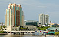Marriott Hotel, Tampa Bay Times Forum behind Franklin Street Bridge. Tampa, Florida.jpg