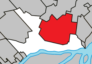 Mascouche - Image: Mascouche Quebec location diagram