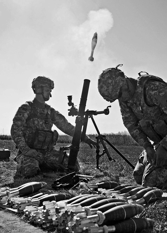 Massachusetts Mortar Platoon Fires for Effect, Camp Atterbury DVIDS314775