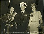 Matron of Honor, Sponsor, and Rear Admiral at the christening of the USS Tirante (SS 420).jpg