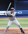 Matt Murton, outfielder of the HANSHIN Tigers , at Yokohama Stadium.jpg