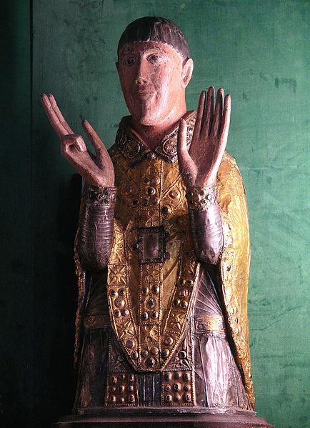 File:Maurs - Abbatiale - Buste-reliquaire de saint Césaire.JPG
