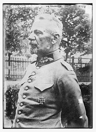 Max von Gallwitz - Gallwitz in 1915