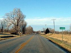 Maysville southern limits, February 2013