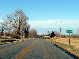 Maysville, Arkansas - Maysville southern limits, February 2013