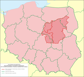 Three historical Mazovian voivodeships in comparison with contemporary Polish voivodeships