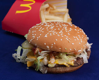 Big N Tasty hamburger sold by McDonalds
