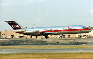 USAir Flight 1016 - A USAir McDonnell Douglas DC-9-31, similar to the one involved