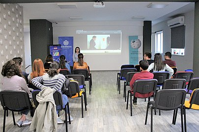 Meeting with Mariam Karapetyan at WMAM office 01.jpg