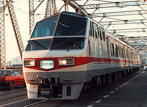 Meitetsu 8800 series - A 2-car 8800 series consist in 1986