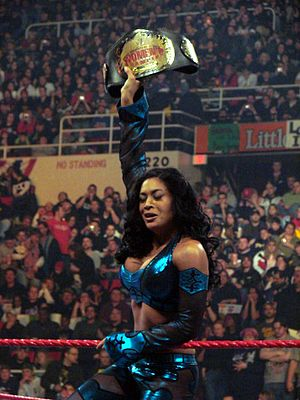 WWE Women's Championship (1956–2010) - Melina in her third reign as Women's Champion, after winning the belt at the Royal Rumble in early 2009