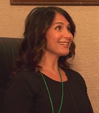 Melissa Fahn - Image: Melissa Fahn on Otalku at Anime USA 2015