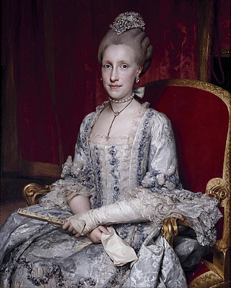 Maria Luisa of Spain - Portrait by Anton Raphael Mengs, 1770