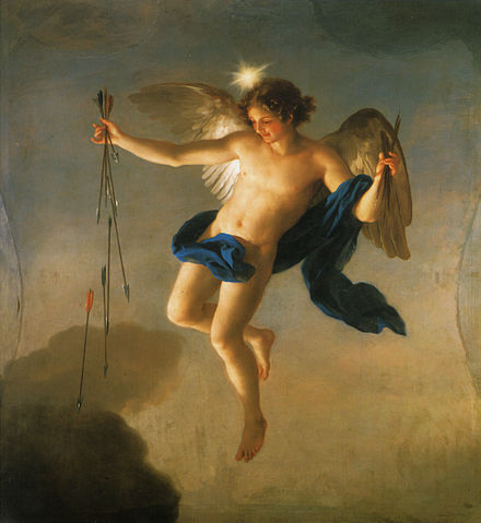 Hesperus (Evening Star personified) by Anton Raphael Mengs, Palacete de la Moncloa, Madrid, 1765 Mengs, Hesperus als Personifikation des Abends.jpg