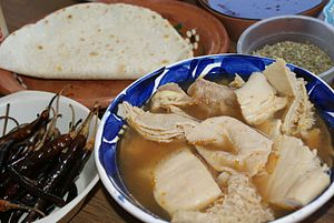 Menudo (soup) - A bowl of Menudo Blanco