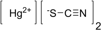Mercury(II) thiocyanate - Image: Mercury thiocyanate