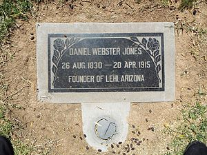Daniel Webster Jones (Mormon) - Grave of Daniel Webster Jones