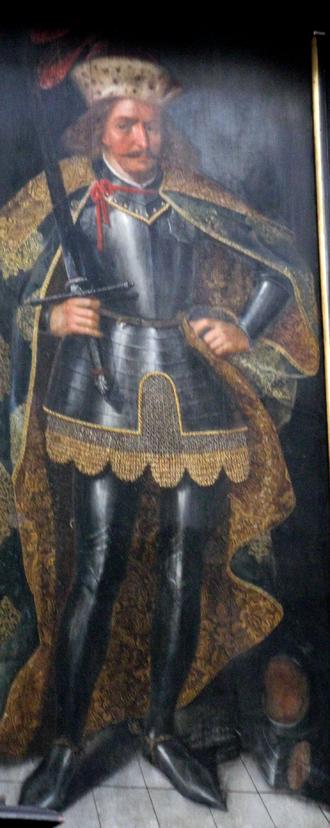 Mestwin II, Duke of Pomerania - Image of Mestwin at the cloister in Oliwa