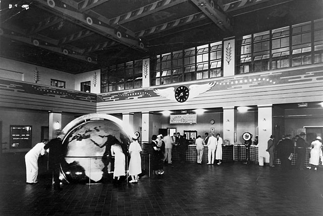 Pan Am - Terminal in Miami in den 1940ern. (Quelle: Wikipedia)