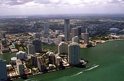 Aeriel view of downtown Miami