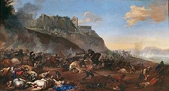 Michelangelo Cerquozzi - Battle scene