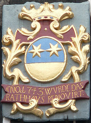 Michelstadt - Old coat of arms at the town hall from 1743