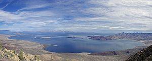 Bahía de los Ángeles - Image: Mikes mountain panorama
