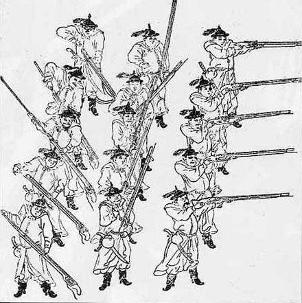 形成中の明王朝の軍隊