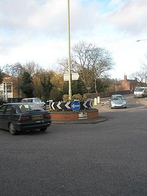 Mini-roundabout in Flambard Way - geograph.org.uk - 1602417.jpg