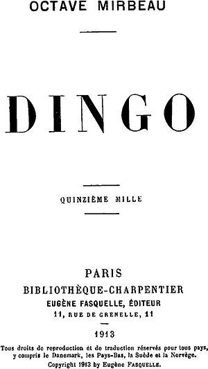 Dingo (novel) - Image: Mirbeau Dingo