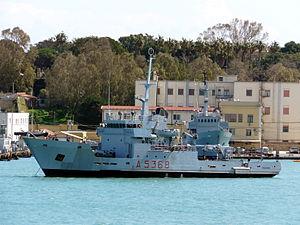 Ponza-class transport ship - Palmaria (A 5368) in 2012