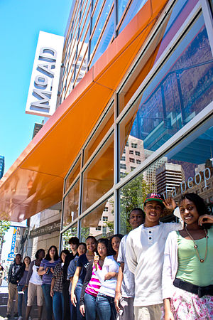 Museum of the African Diaspora - Museum of the African Diaspora members stand outside the museum, awaiting a tour.