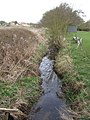 Moat Brook downstream of Codsall footbridge - geograph.org.uk - 2338015.jpg