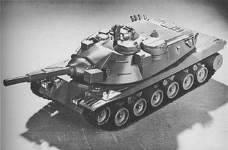 MBT-70 - A model of the United States MBT-70 design