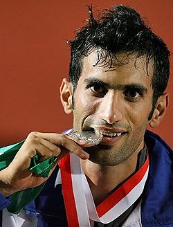 Mohammad Arzandeh silver medal (cropped).jpg
