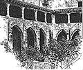 Monestir de la Trinitat (claustre) de València, gravat de 1887..jpg
