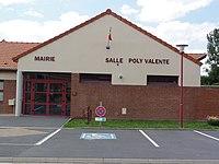 Montrécourt (Nord, Fr) mairie, salle polyvalente.JPG