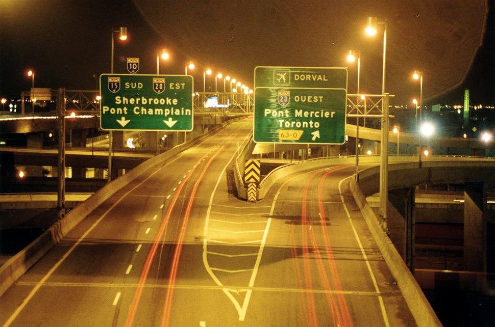Montreal autoroute