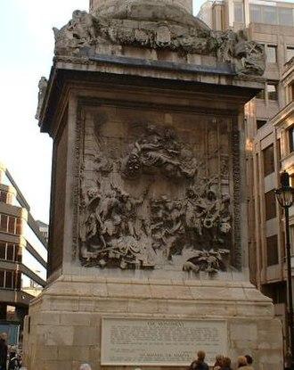 Caius Gabriel Cibber - Image: Monument Base
