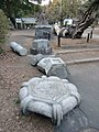 Monuments fell down by 2011 Tōhoku Earthquake in Tokiwa-shrine.JPG