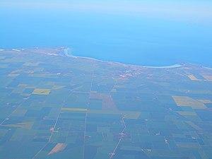 Moonta, South Australia - Image: Moonta aerial view 1223
