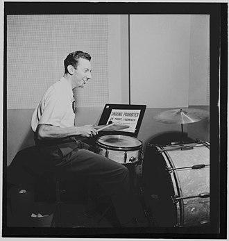 Morey Feld - Morey Feld, ca. August 1947.  Photograph by William P. Gottlieb.