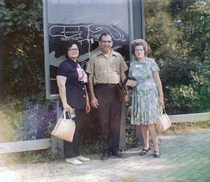 Morgan D. Peoples - Morgan D. Peoples is pictured in 1971 at historic Jamestown, Virginia, with two members on his educational tour, including Elmeanie H. McCain (1899–1981), a retired teacher from Colfax and later Baton Rouge (right).