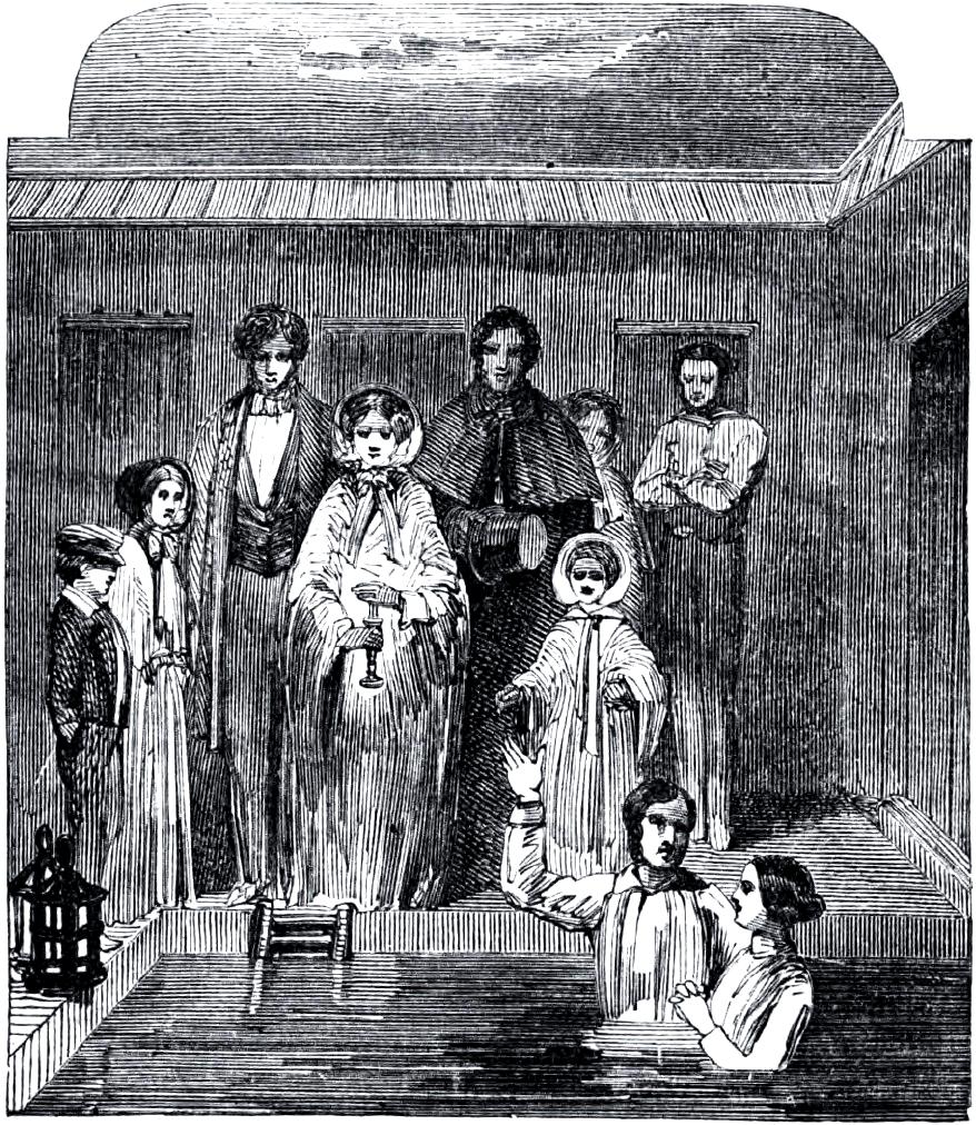 Mormon baptism circa 1850s