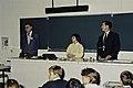 Mr CURIEN Ministre de la Recherche au collège Pierre Brossolette de Chatenay Malabry-13-cliche Jean Weber.jpg
