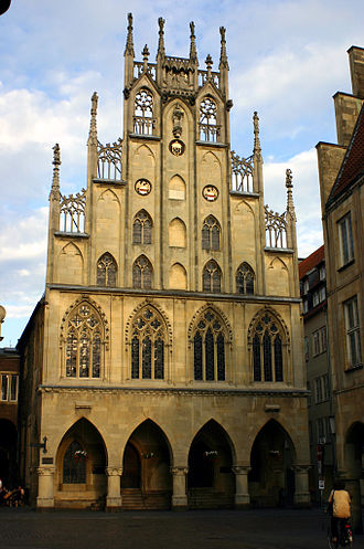 History of Münster - Town Hall in the Prinzipalmarkt.