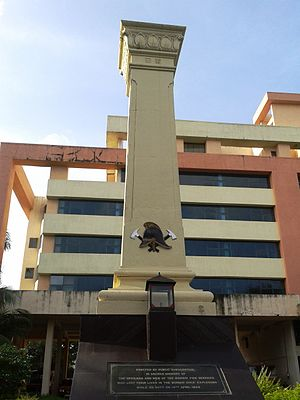 Mumbai Fire Brigade - Firefighters Memorial outside the Byculla Headquarters